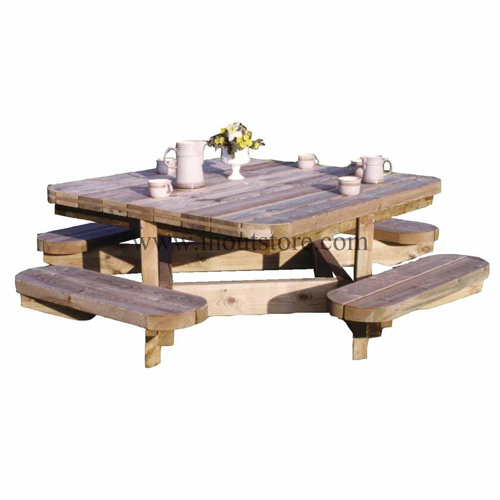Tavolo Picnic Chasse Decor Et Jardin Con Panche 10180 T00
