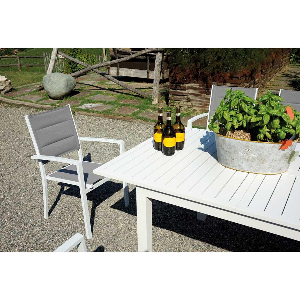 Tavoli Da Giardino In.Tavolo Da Giardino In Alluminio Allungabile 200 300 Mama Garden Rta 42