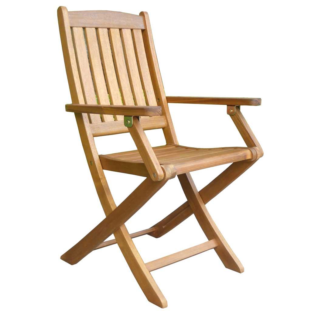 Sedie Di Legno Da Giardino.Sedia Da Giardino In Acacia Siviglia Mama Garden Cha 301 Con Braccioli