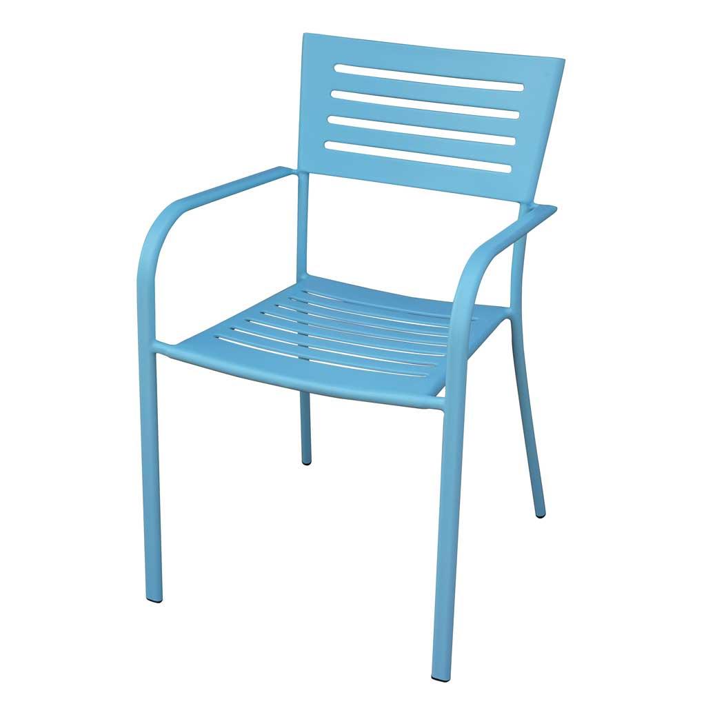 Sedie Da Esterno Colorate.Sedia Da Giardino In Ferro Azzurro Taormina Mama Garden Chf 16a