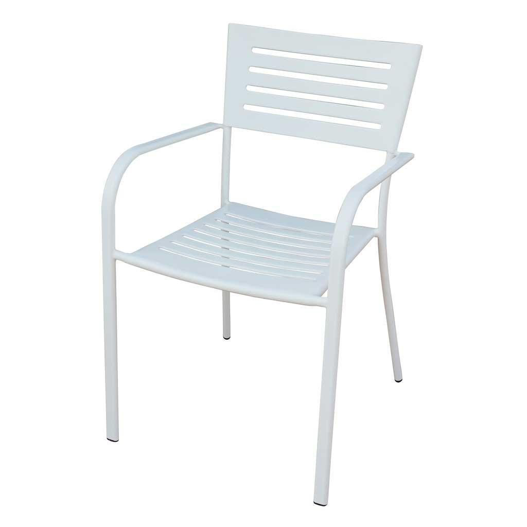 Sedie Da Giardino In Ferro.Sedia Da Giardino In Ferro Bianco Taormina Moia Chf 16b