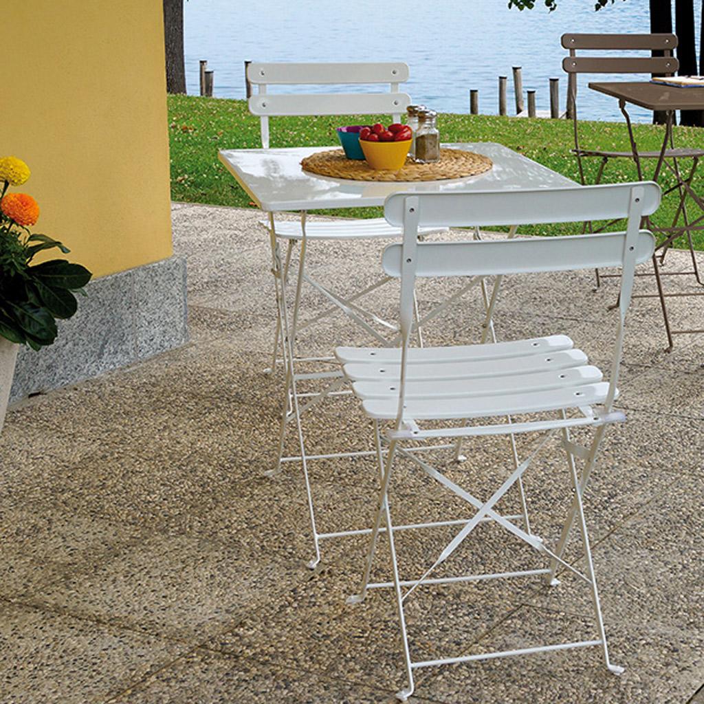Tavoli E Sedie In Ferro Per Giardino.Set In Ferro Blu Bistro Da Giardino Mama Garden Sbf 11b Con Tavolo