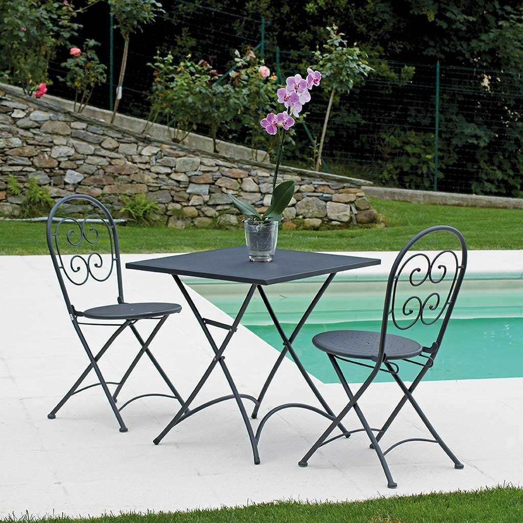 Tavoli Da Giardino In Ferro.Tavolo Da Giardino Ferro Grigio Antracite Orta Moia Ftf 57