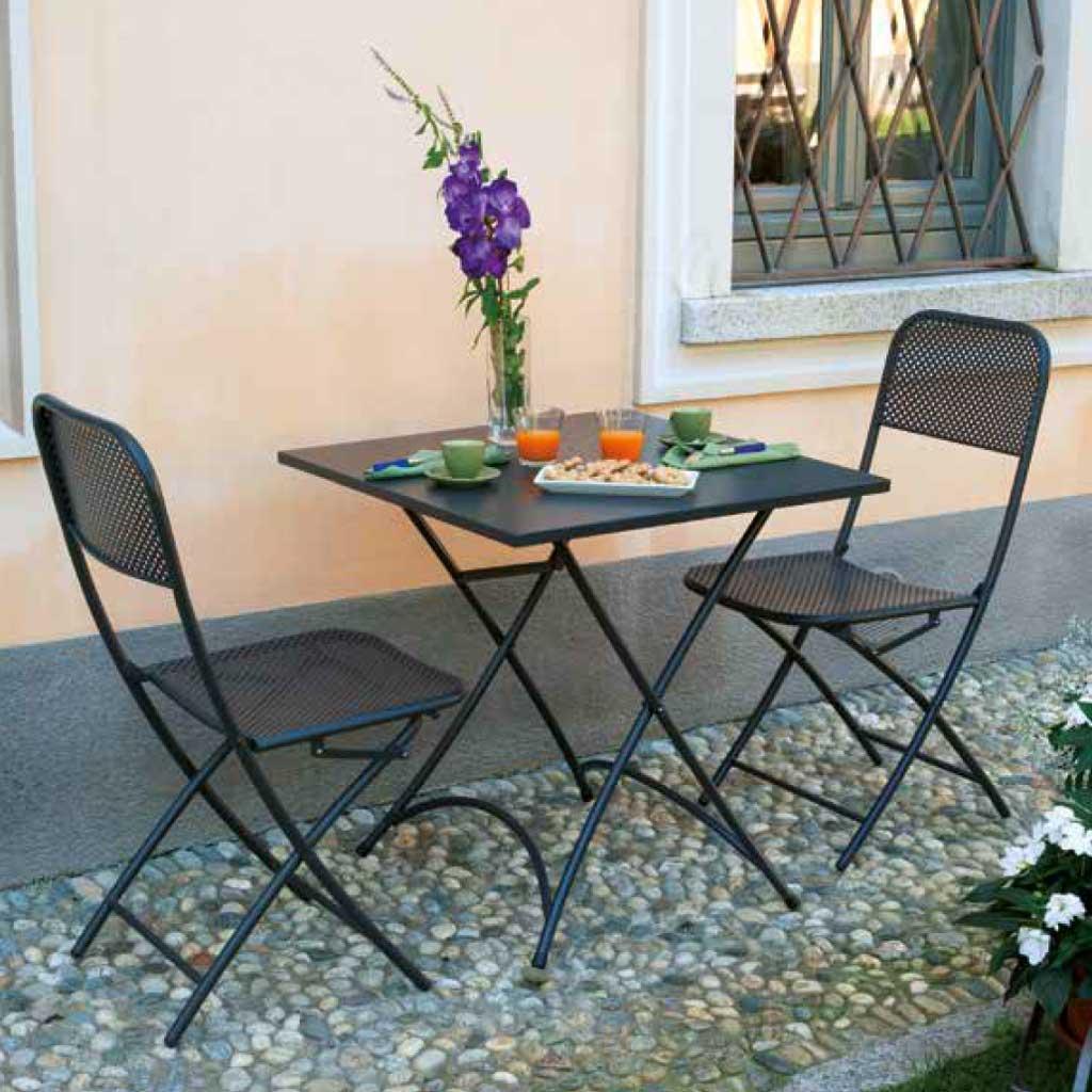 Tavolo Da Giardino Metallo.Tavolo Da Giardino Ferro Grigio Antracite Orta Mama Garden Ftf 57