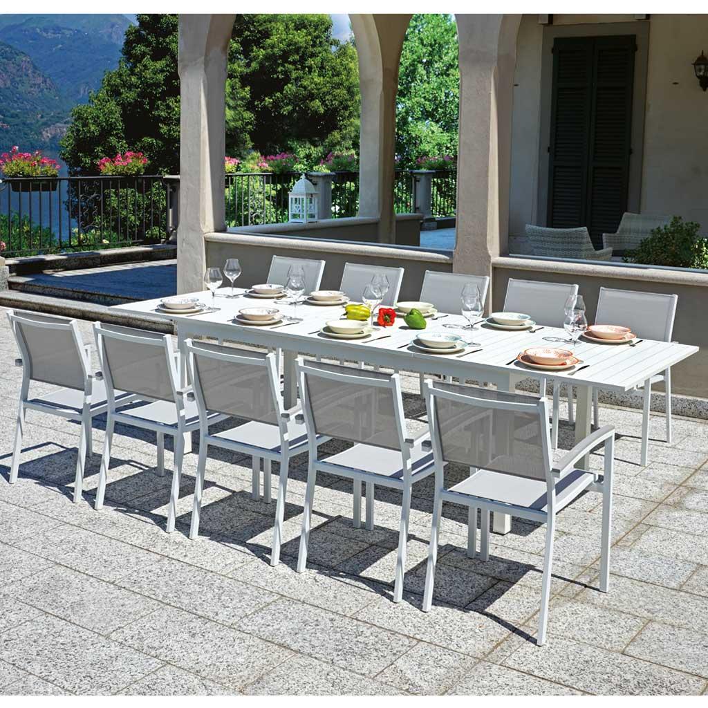Tavolo Da Giardino Alluminio.Tavolo Da Giardino In Alluminio Allungabile 200 300 Moia Rta 42