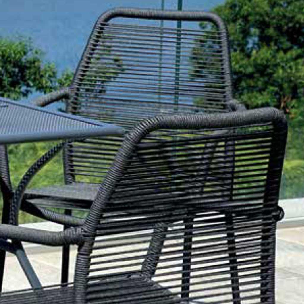 Tavoli E Sedie Da Giardino In Ferro.Sedia Da Giardino In Ferro E Corda Buccione Moia Chf 09