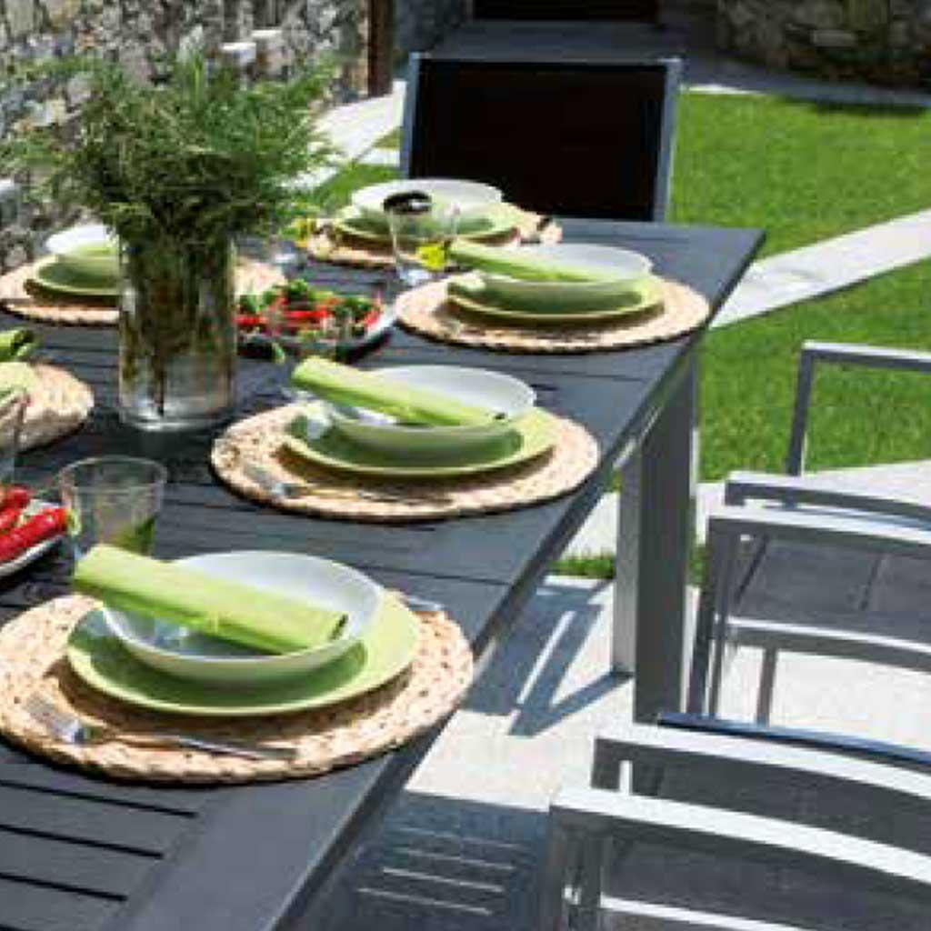Tavolo Da Giardino Allungabile In Alluminio Ravello Mama Garden Rty 16