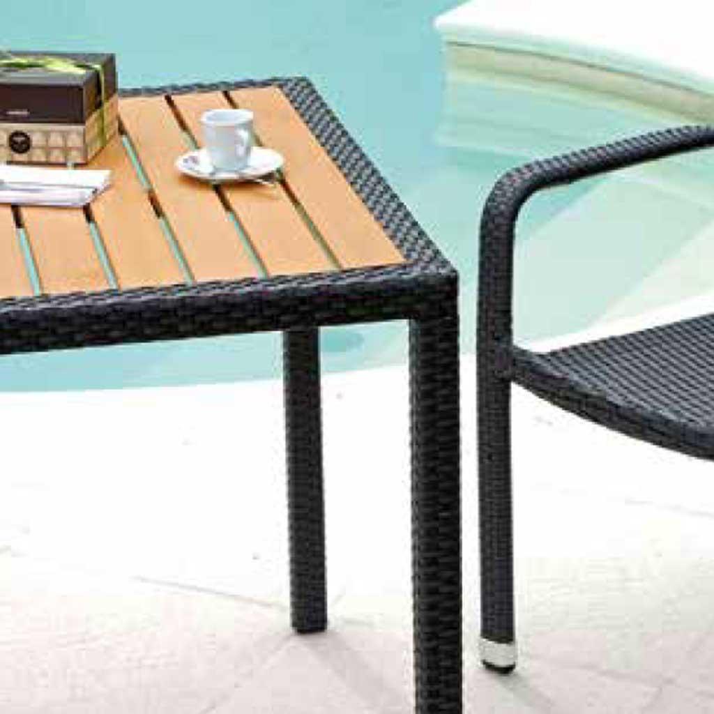 Tavoli Da Giardino In Midollino.Tavolo Da Giardino In Rattan Wenge Orleans Moia Stw 55