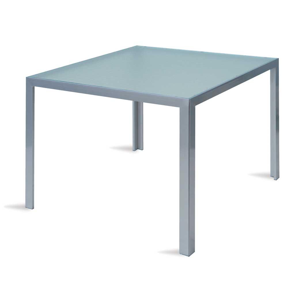Tavolo Alluminio Da Esterno.Tavolo Quadrato In Alluminio Da Giardino Amalfi Moia Sty 11