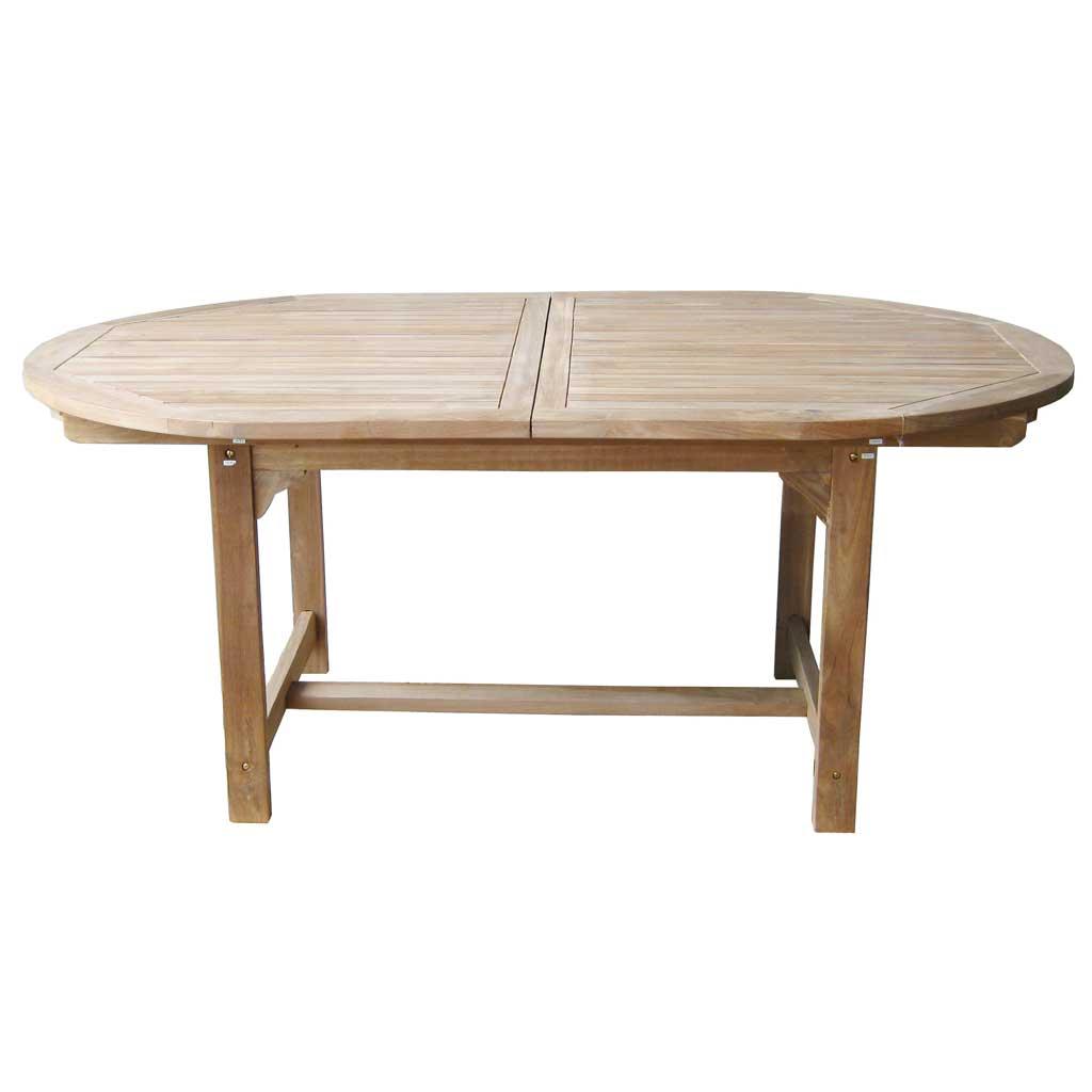 Tavolo Da Giardino Allungabile In Teak.Tavolo Ovale Teak Da Giardino Allungabile Alicudi Moia Ot 503