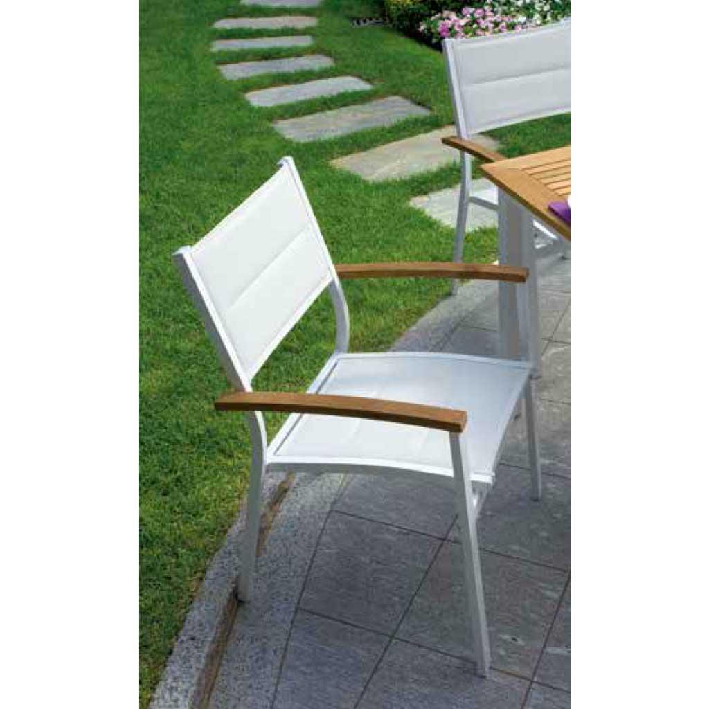 Sedie Da Giardino Alluminio.Sedia Da Giardino Alluminio Bastia 57x58 Moia Cht 80