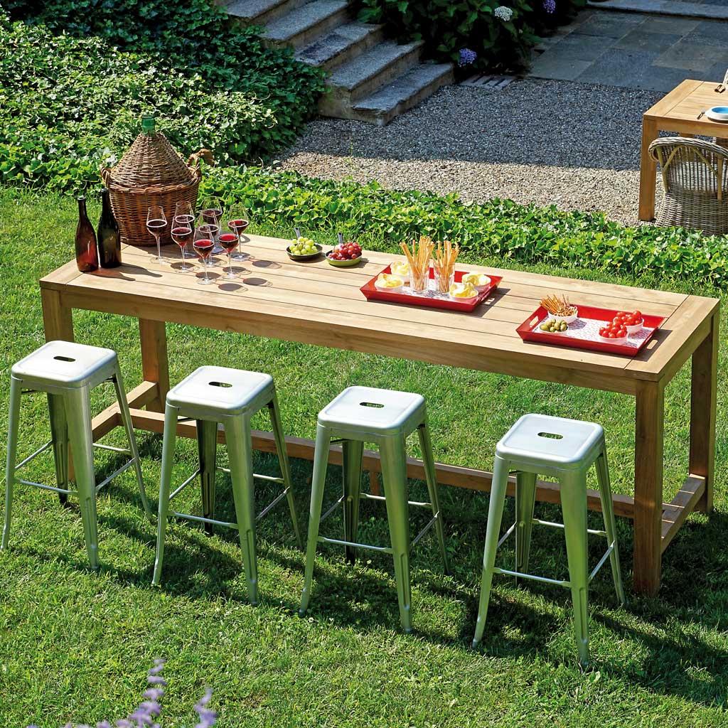 Bancone Bar Da Giardino bancone bar teak riciclato da giardino 250x75 mama garden wrt 05