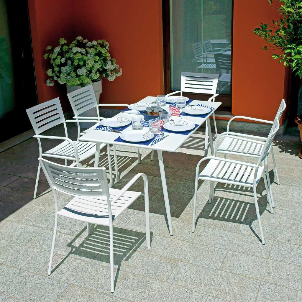 Tavolo Giardino Ferro Bianco.Tavolo Da Giardino Ferro Bianco 140x80 Messina Moia Rtf 20
