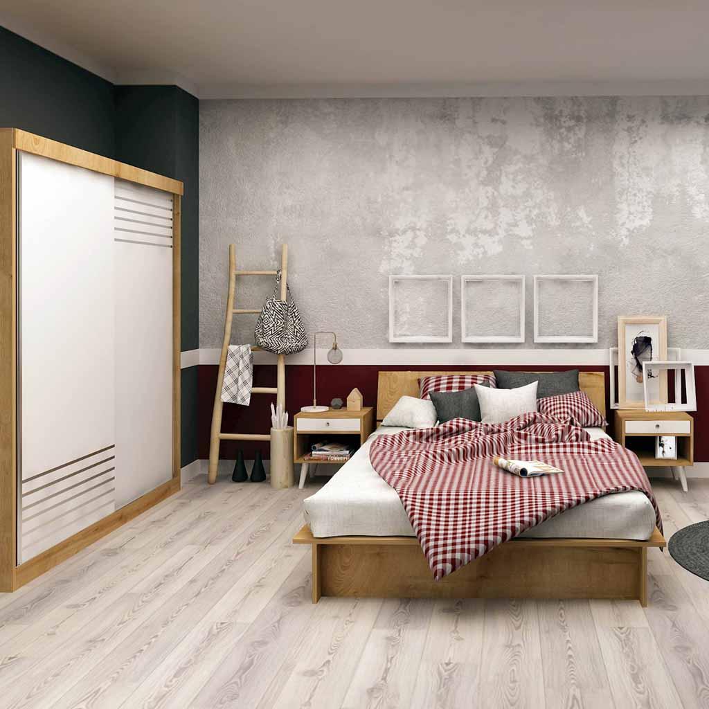Camera da Letto The Furniture Project Rovere e Bianca