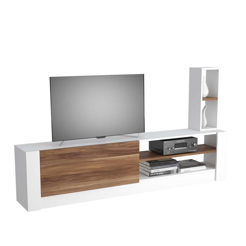 Mobile TV Gomez Theta Design Bianco e Marrone