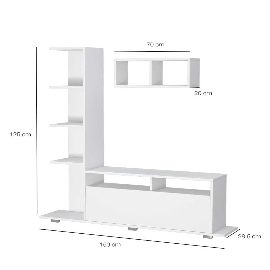 Mobile TV Argo Theta Design Bianco e Sonoma