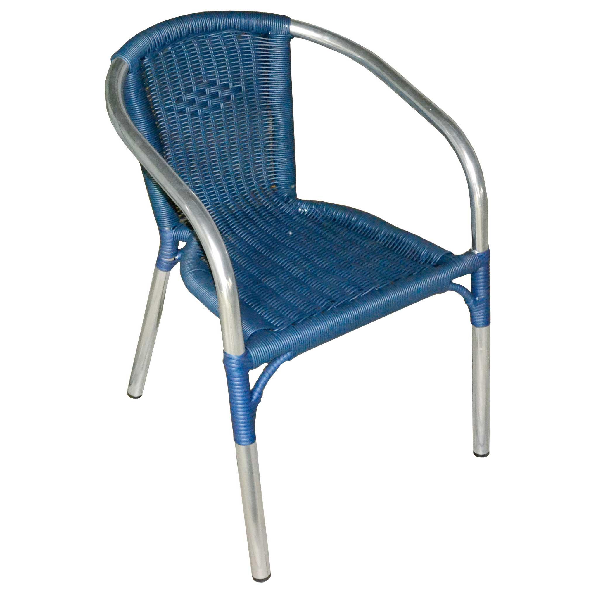 Sedie Bar Alluminio Prezzi.Sedia Bar In Alluminio Con Filo In Acciaio Colore Blu Moia Cc 39b