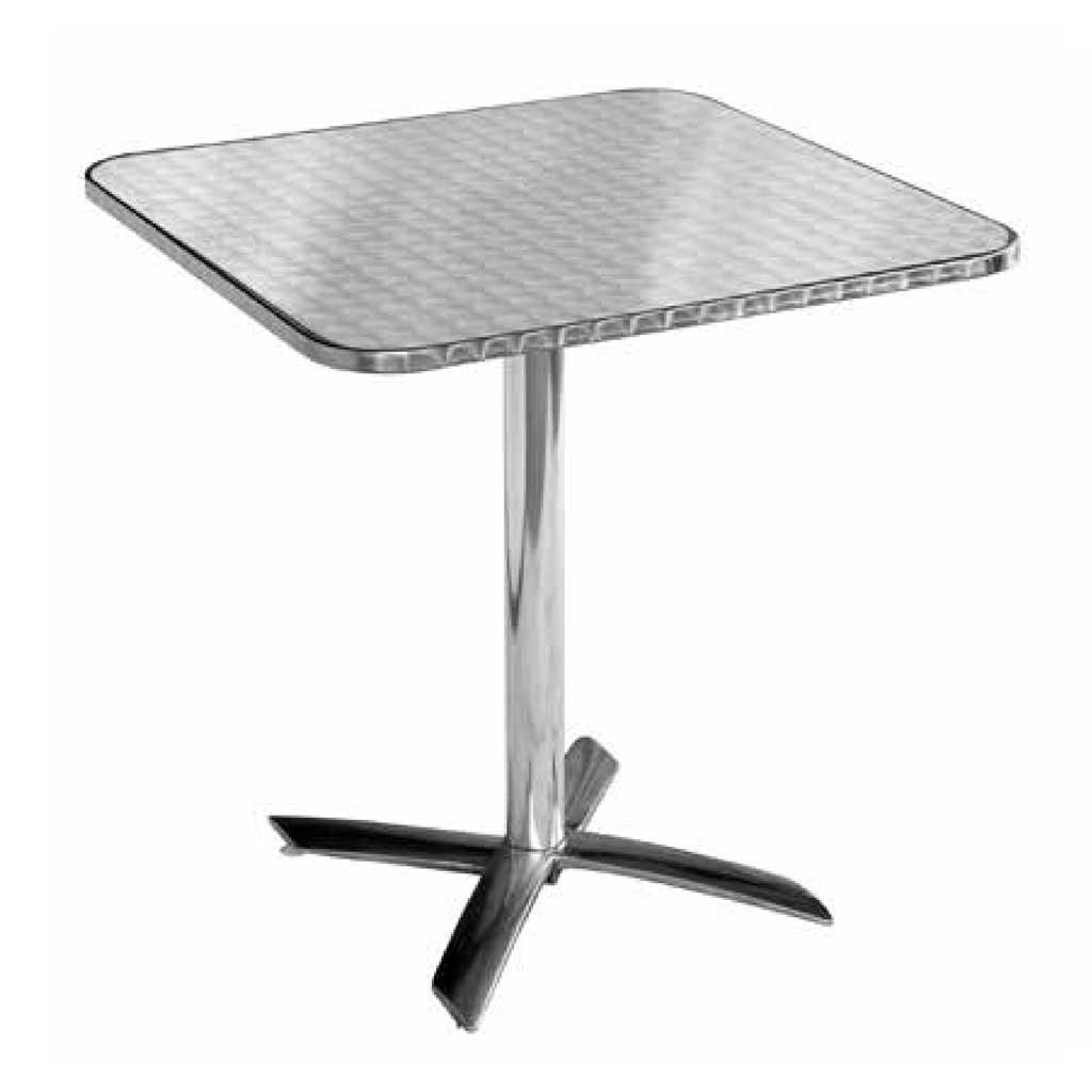 Tavolo Pieghevole In Alluminio.Tavolo Pieghevole Quadrato 70x70 In Alluminio E Acciaio Moia Tc 14