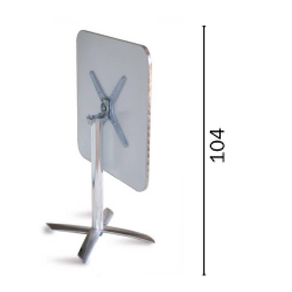 Tavoli Da Giardino In Alluminio Pieghevoli.Tavolo Pieghevole Quadrato 70x70 In Alluminio E Acciaio Tc 14