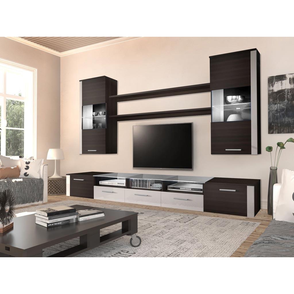 Mobile Tv Roma Theta Design Wenge e Bianco