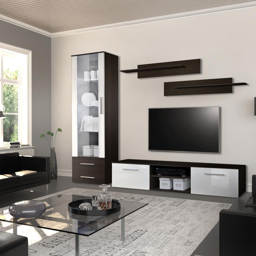 Mobile Tv Milano Theta Design Wenge e Bianco