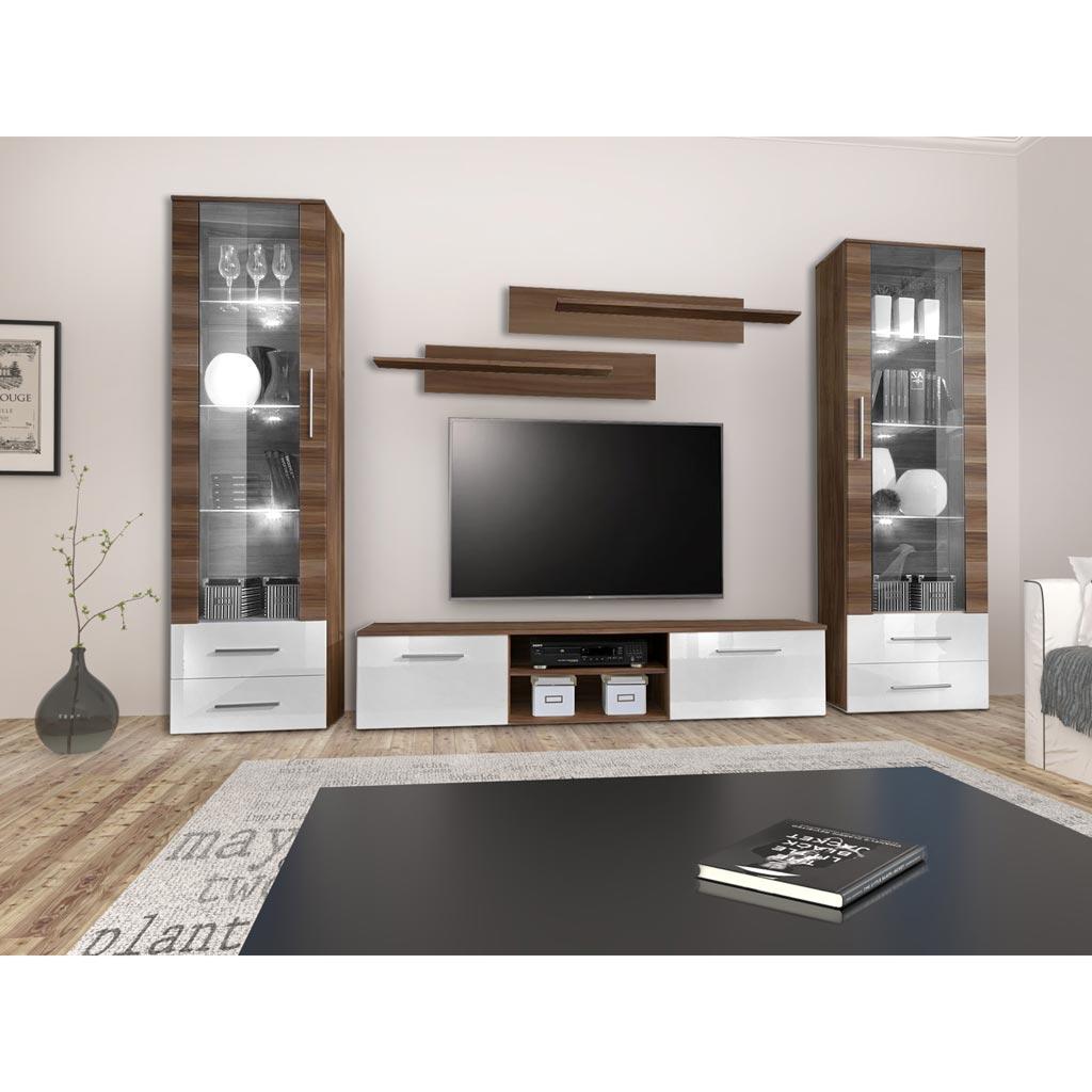Acquista Mobile Tv Frankfurt Theta Design Noce E Bianco