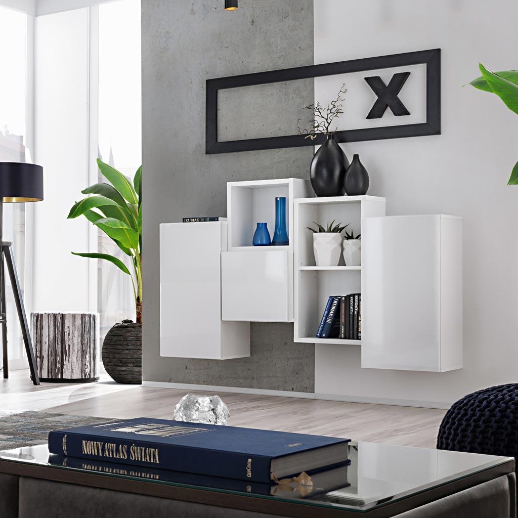 Acquista Mobile Soggiorno Blox Sw25 Theta Design Bianco
