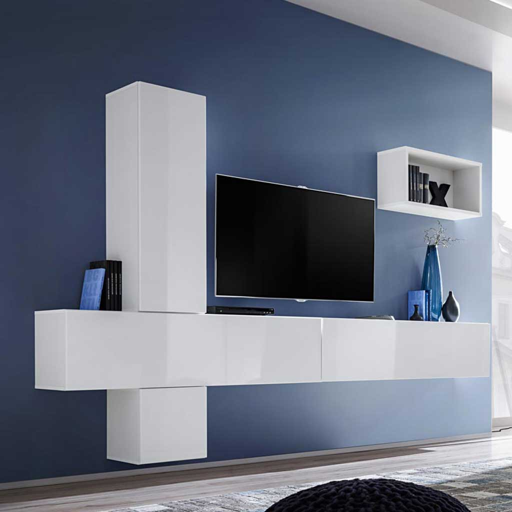 Mobile Soggiorno Blox Sw26 Theta Design Bianco