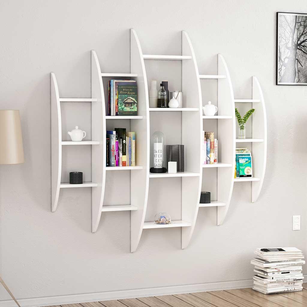 Molto Offerta online Libreria da parete Alvino Minar Bianca Inoutstore VF09