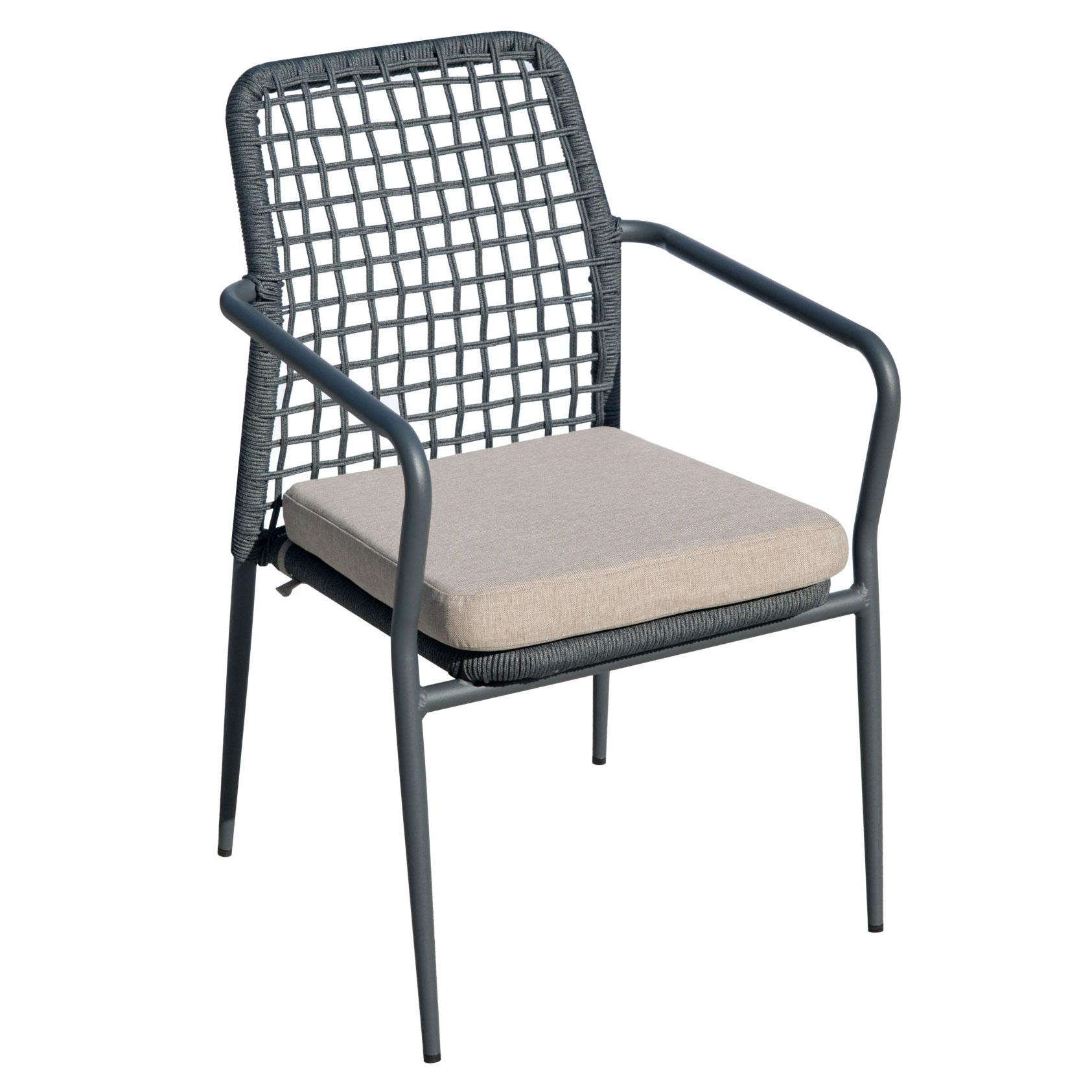 Sedie Da Giardino Alluminio.Sedia Da Giardino In Alluminio E Corda Pisa Moia Cha 29