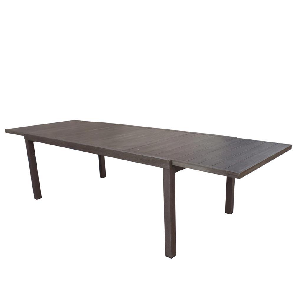 Tavoli Allungabili In Alluminio.Tavolo Allungabile In Alluminio Effetto Legno Scuro Verbier Moia Rta 28m