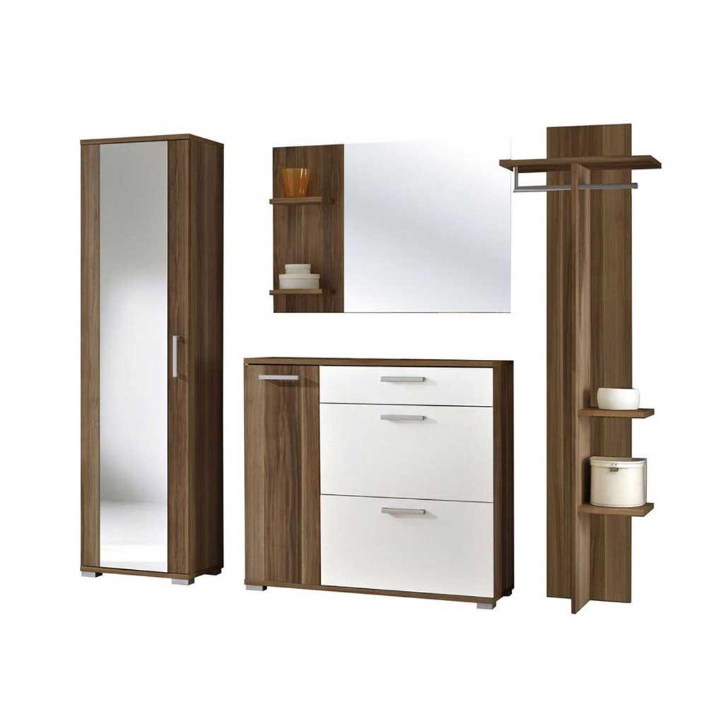 Acquista Mobile Ingresso Stockholm Theta Design Noce e Bianco