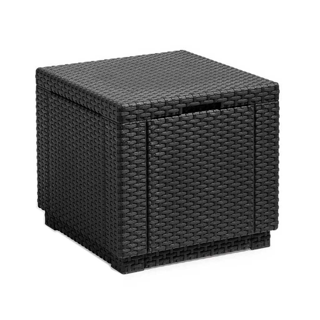 Armadio Rattan Da Esterno.Contenitore Da Giardino In Resina Keter Cube Rattan