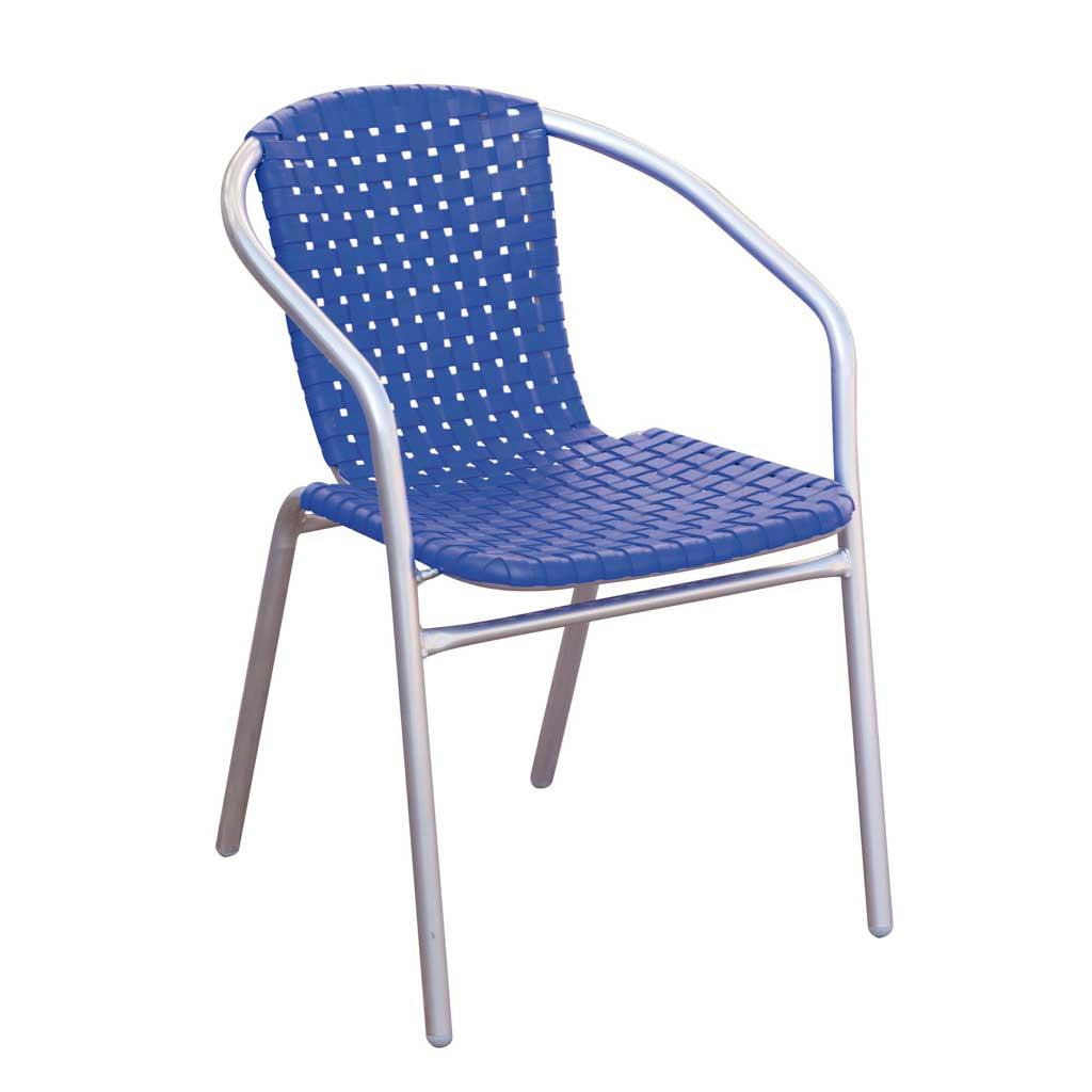 Sedute In Plastica Per Sedie.Sedia Da Giardino In Ferro E Seduta In Plastica Bluette Moia Cc 35b