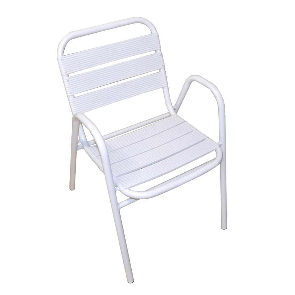 Sedie Da Esterno Colorate.Sedia Da Giardino In Alluminio Bianco Calipso Mama Garden Cc 64b