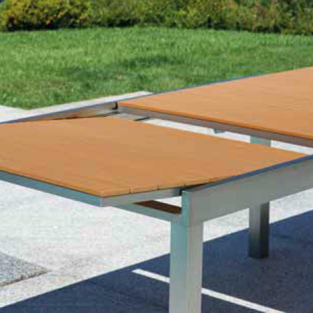 Tavolo Quadrato Allungabile Da Esterno.Tavolo Allungabile Da Giardino In Alluminio Satinato Mama Garden