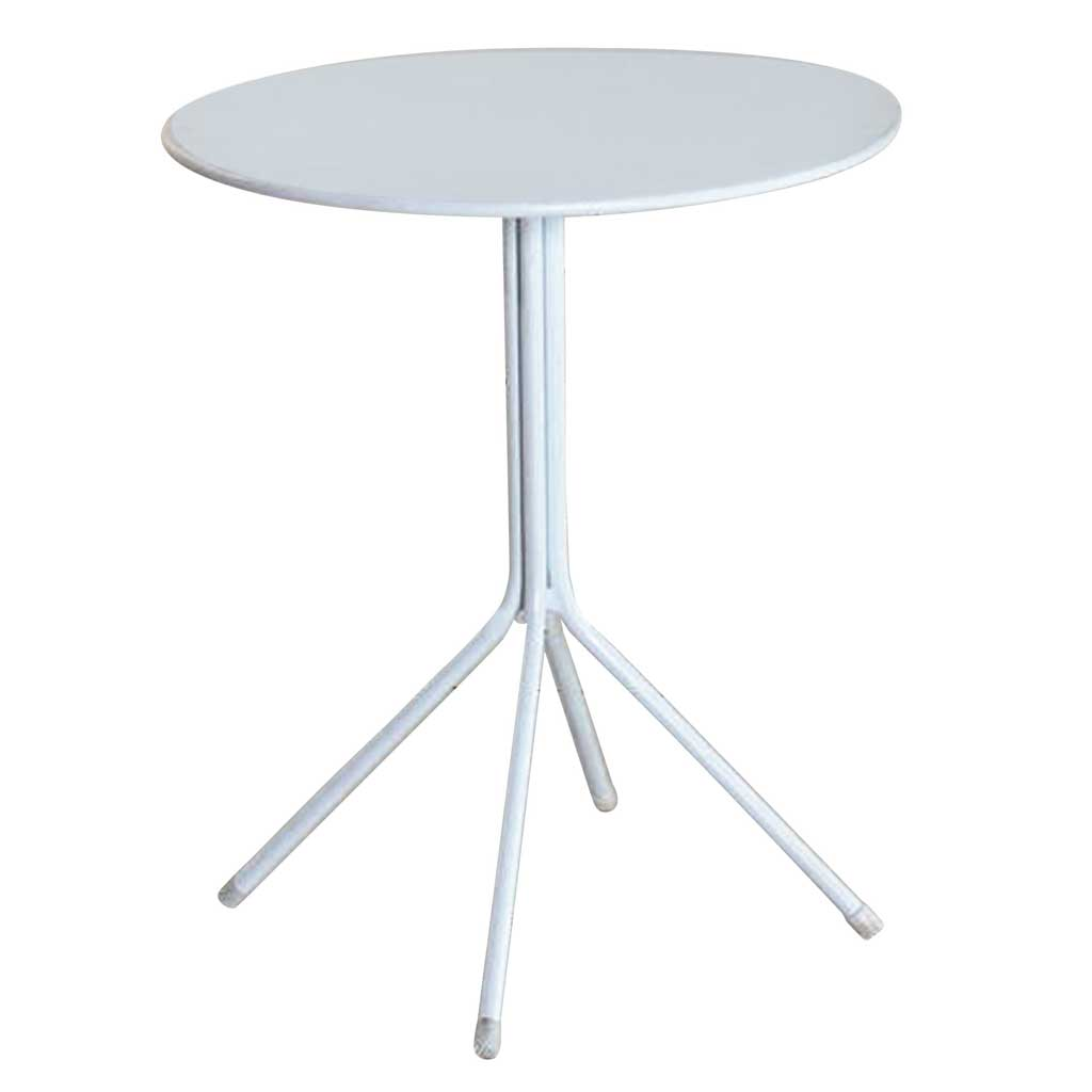 Tavolo Bar Bianco.Tavolo Bar Rotondo 60 Cm In Ferro Color Bianco Moia Tc 21
